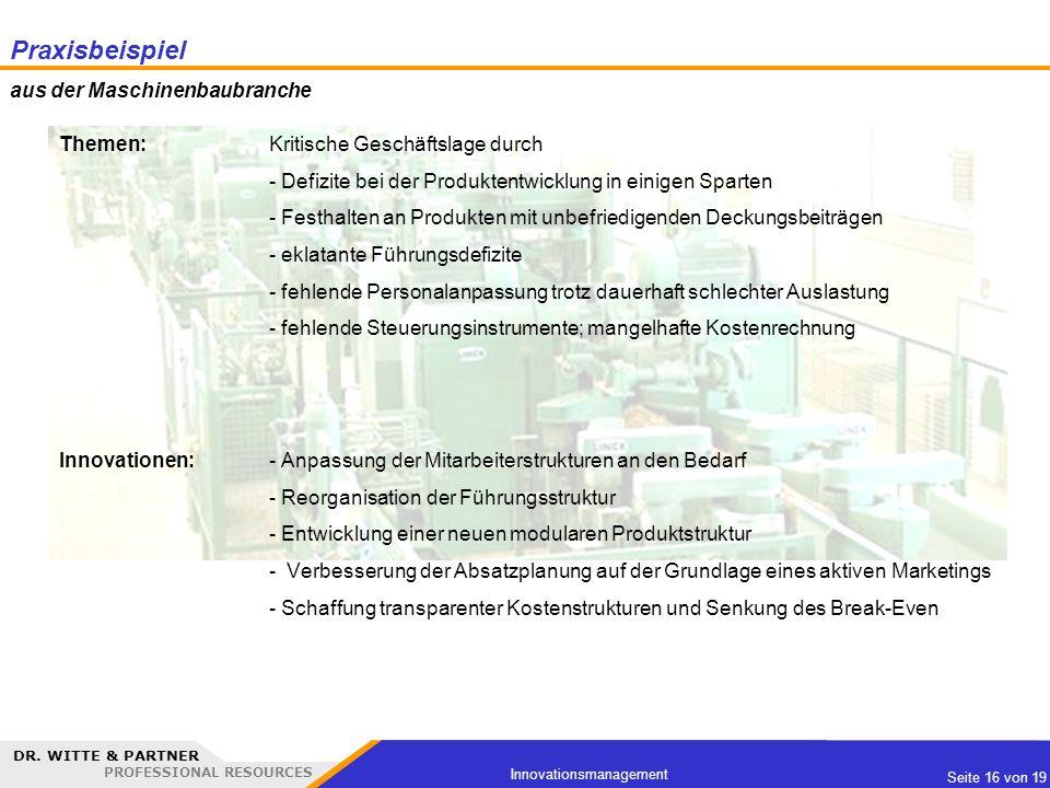 Praxisbeispiel aus der Maschinenbaubranche