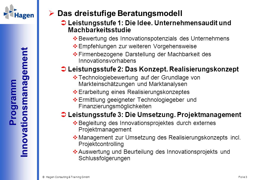 Programm Innovationsmanagement