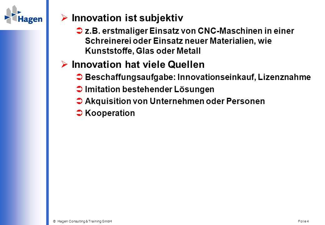 Innovation ist subjektiv