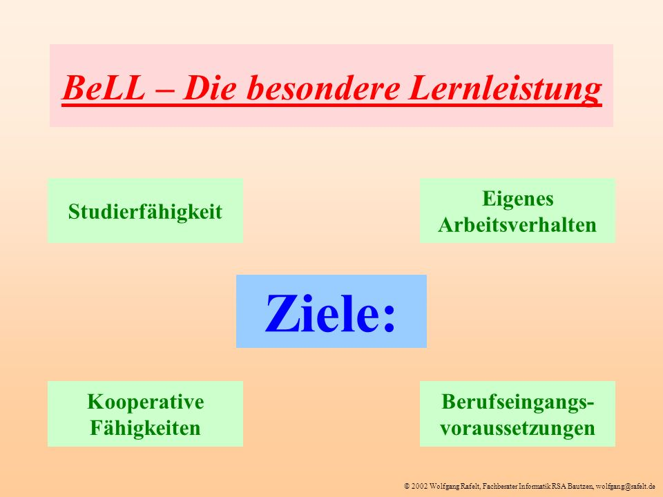 BeLL – Die besondere Lernleistung