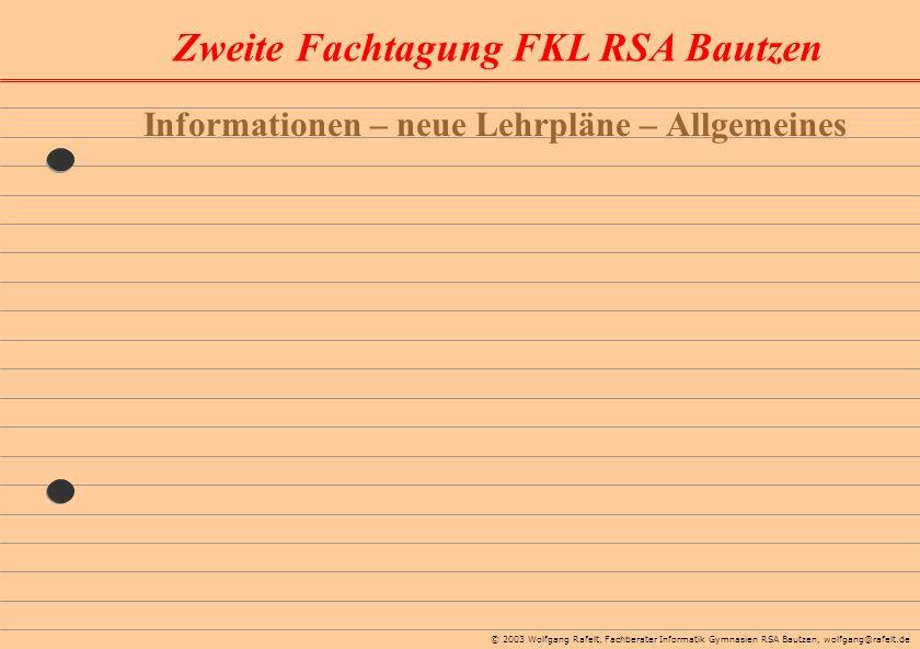 Informationen – neue Lehrpläne – Allgemeines