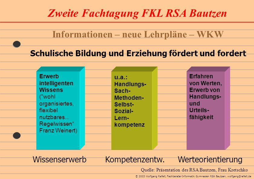Informationen – neue Lehrpläne – WKW