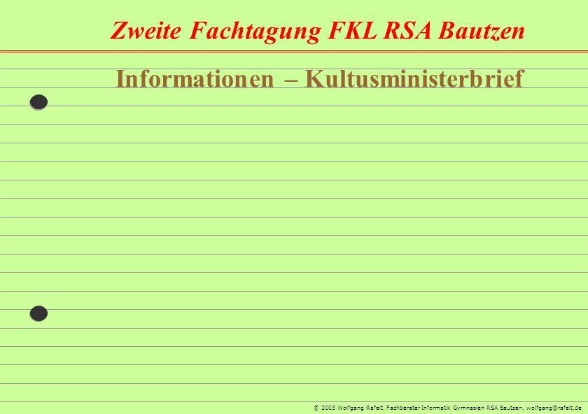 Informationen – Kultusministerbrief