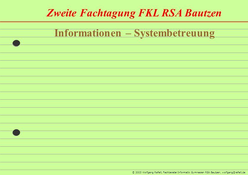 Informationen – Systembetreuung