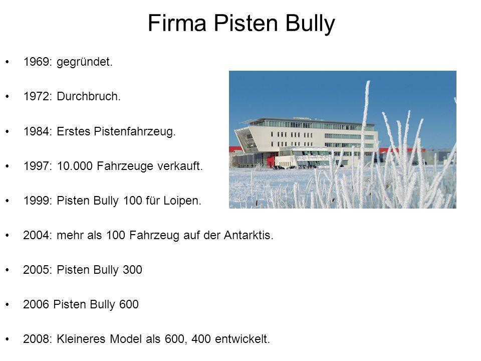 Firma Pisten Bully 1969: gegründet. 1972: Durchbruch.