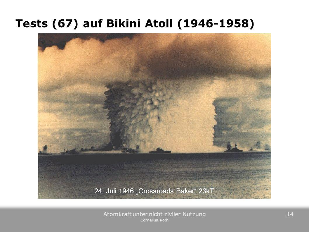 Tests (67) auf Bikini Atoll (1946-1958)