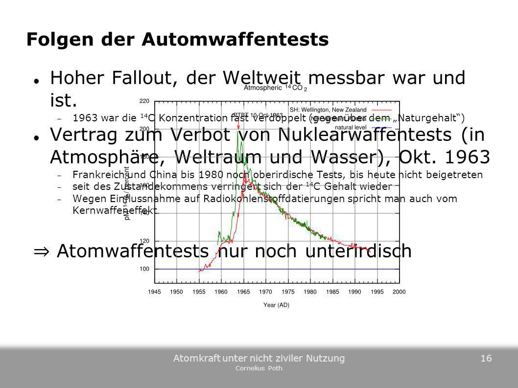 Folgen der Automwaffentests