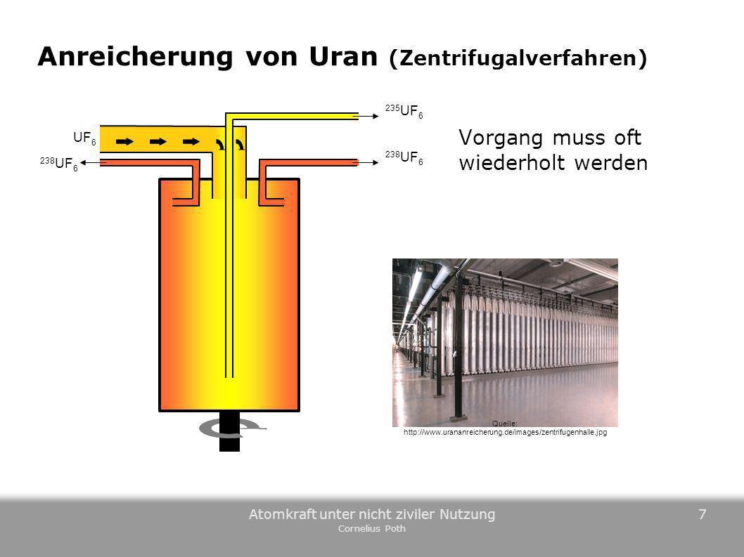 Anreicherung von Uran (Zentrifugalverfahren)