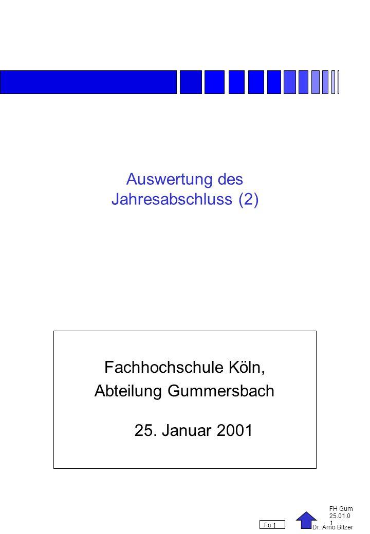 Auswertung des Jahresabschluss (2)