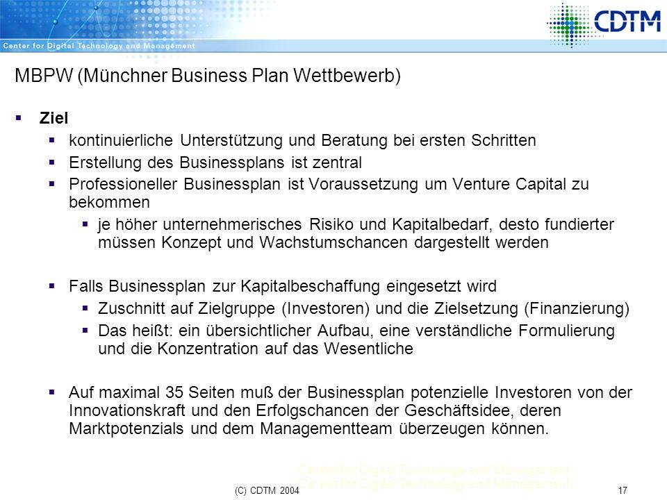 MBPW (Münchner Business Plan Wettbewerb)