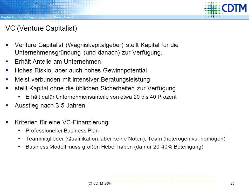 VC (Venture Capitalist)