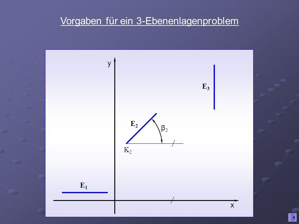 Vorgaben für ein 3-Ebenenlagenproblem