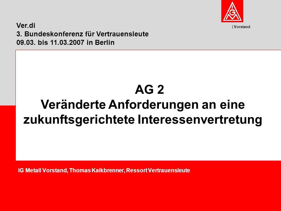 IG Metall Vorstand, Thomas Kalkbrenner, Ressort Vertrauensleute