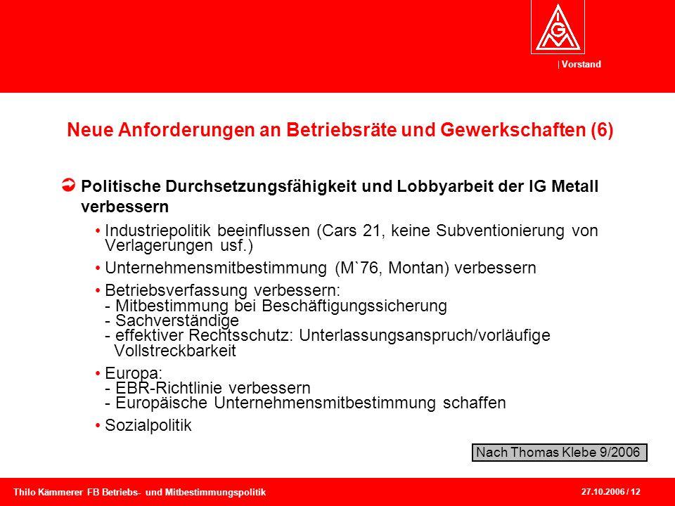 Neue Anforderungen an Betriebsräte und Gewerkschaften (6)