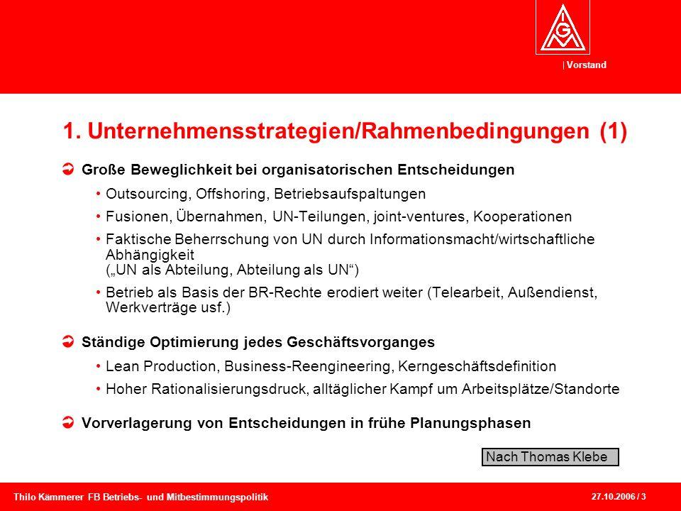 1. Unternehmensstrategien/Rahmenbedingungen (1)