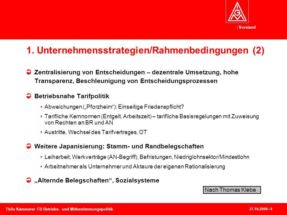 1. Unternehmensstrategien/Rahmenbedingungen (2)
