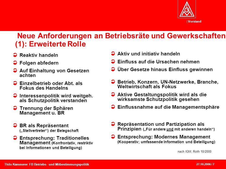 Neue Anforderungen an Betriebsräte und Gewerkschaften (1): Erweiterte Rolle