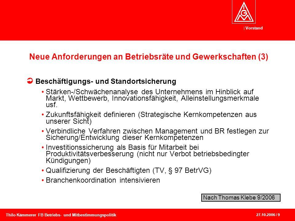 Neue Anforderungen an Betriebsräte und Gewerkschaften (3)