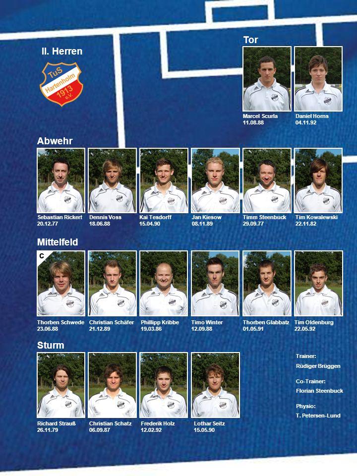 Tor II. Herren Abwehr Mittelfeld Sturm C Daniel Horns 04.11.92