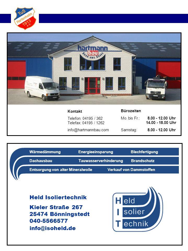 Kieler Straße 267 25474 Bönningstedt 040-5566577 info@isoheld.de