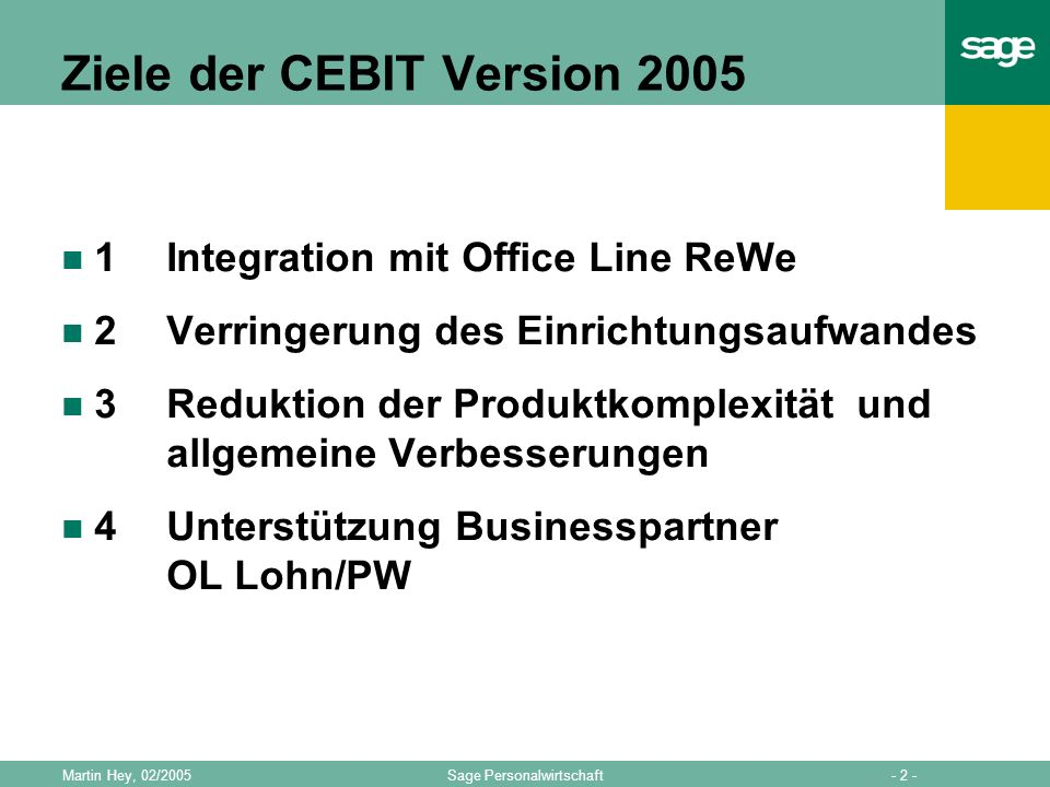 Ziele der CEBIT Version 2005