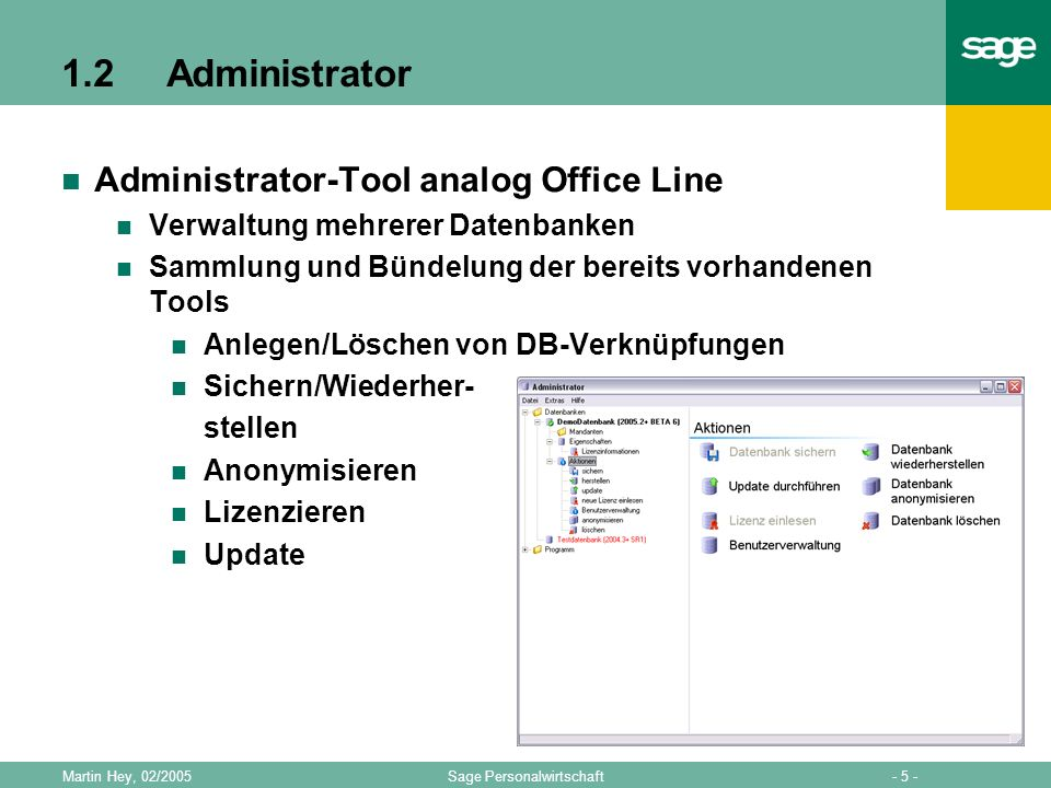 1.2 Administrator Administrator-Tool analog Office Line