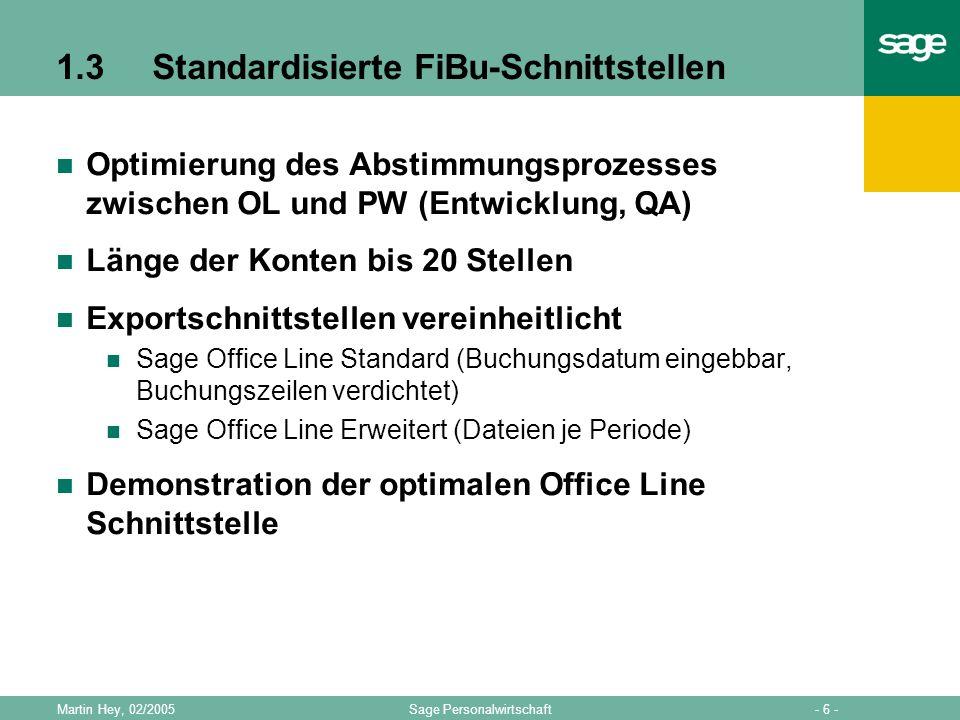 1.3 Standardisierte FiBu-Schnittstellen