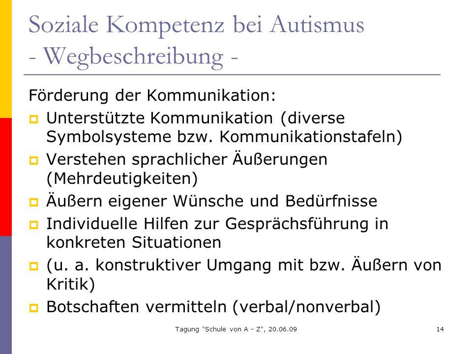 Soziale Kompetenz bei Autismus - Wegbeschreibung -