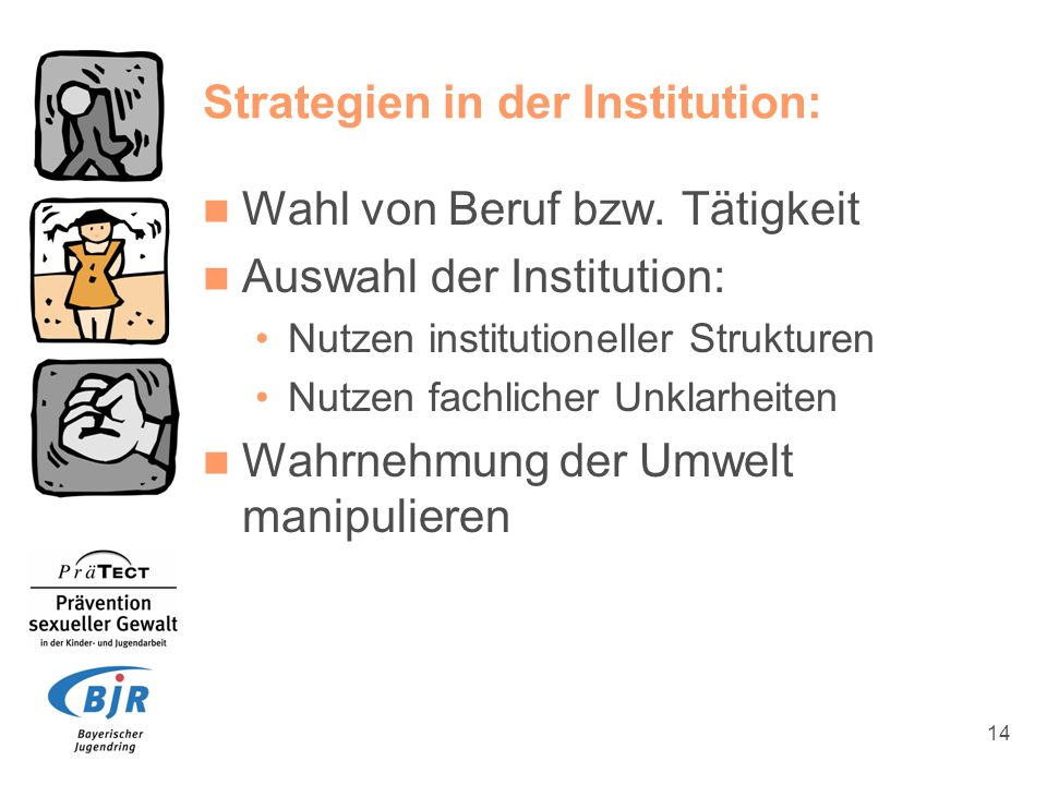 Strategien in der Institution: