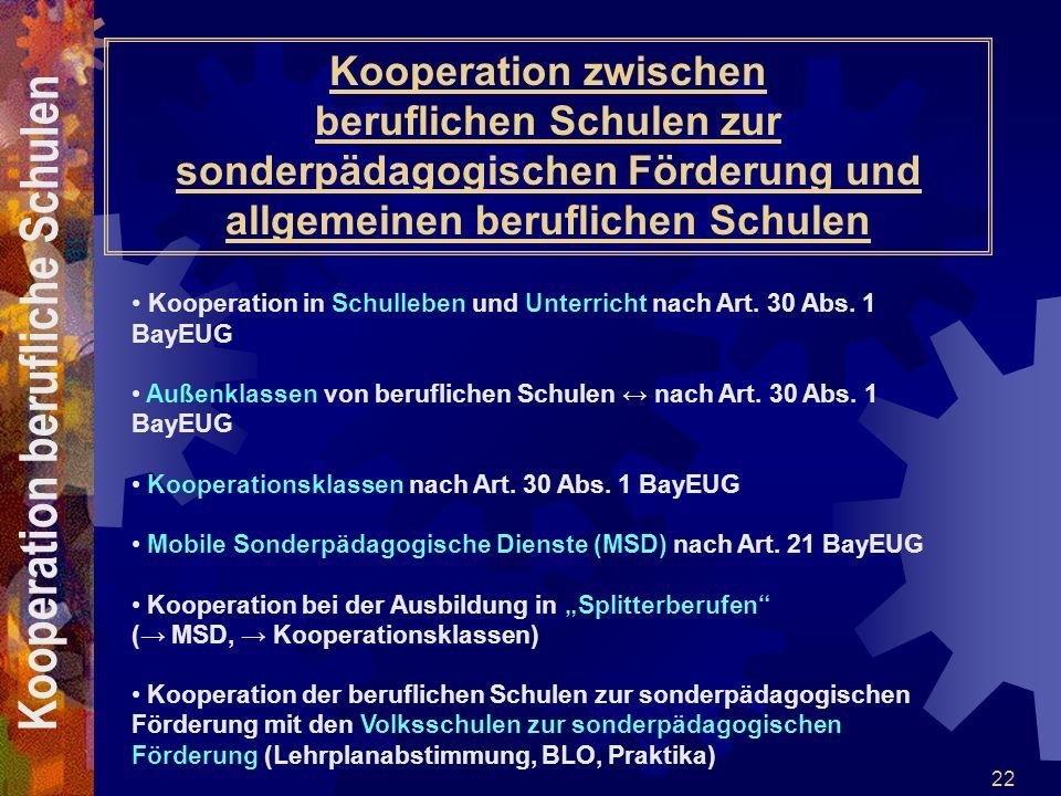 Kooperation berufliche Schulen