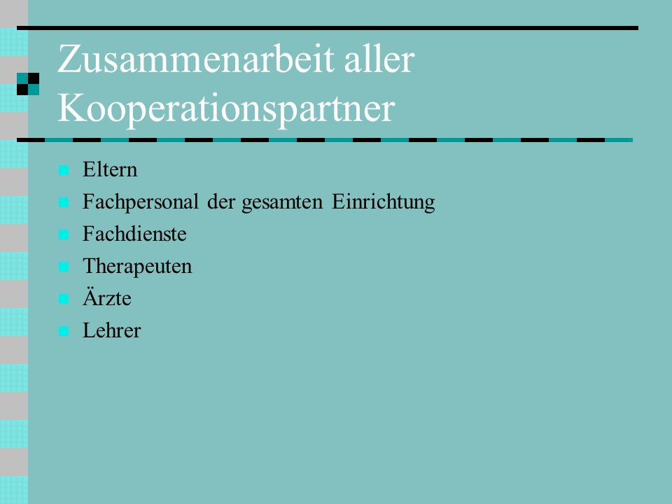 Zusammenarbeit aller Kooperationspartner
