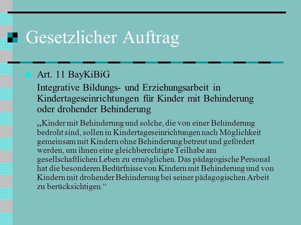 Gesetzlicher Auftrag Art. 11 BayKiBiG
