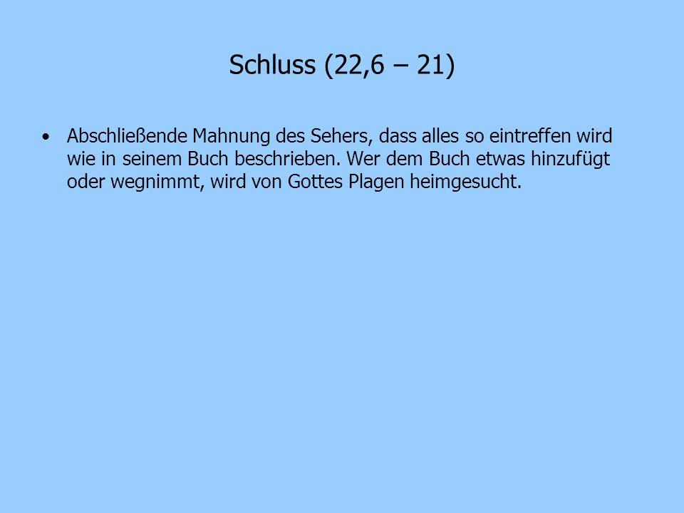 Schluss (22,6 – 21)