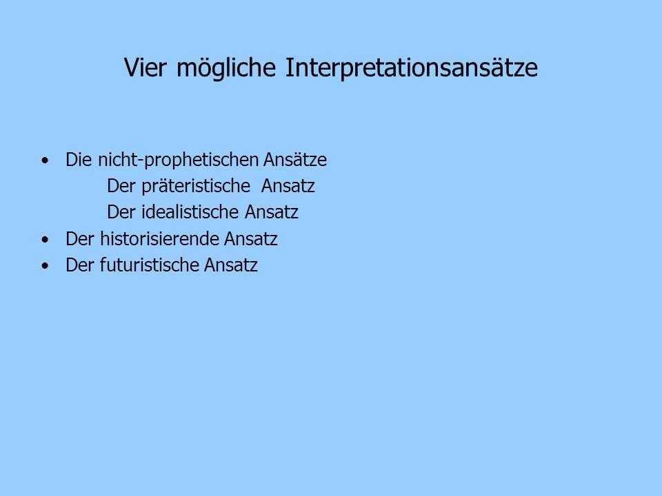 Vier mögliche Interpretationsansätze