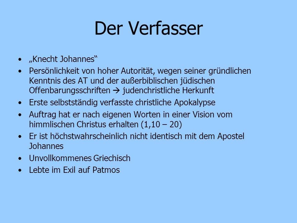 """Der Verfasser """"Knecht Johannes"""