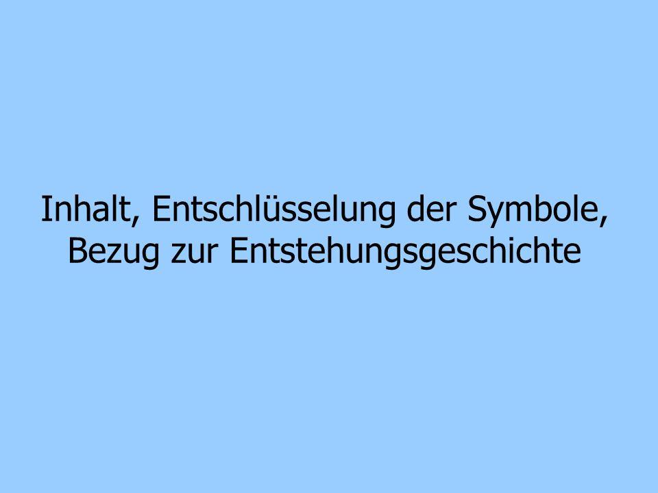 Inhalt, Entschlüsselung der Symbole, Bezug zur Entstehungsgeschichte