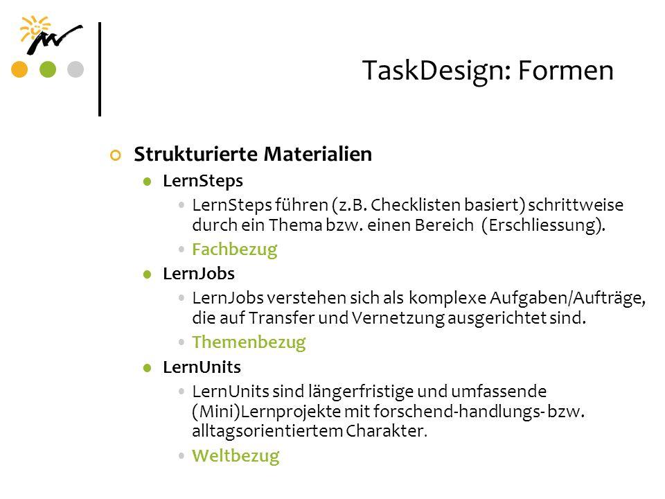 TaskDesign: Formen Strukturierte Materialien LernSteps
