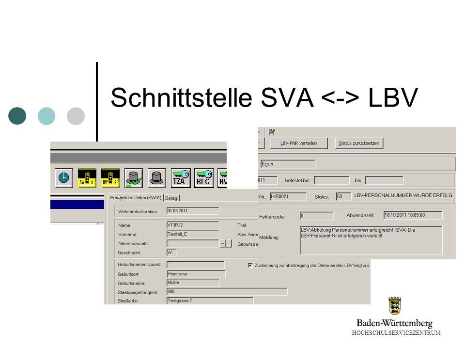 Schnittstelle SVA <-> LBV