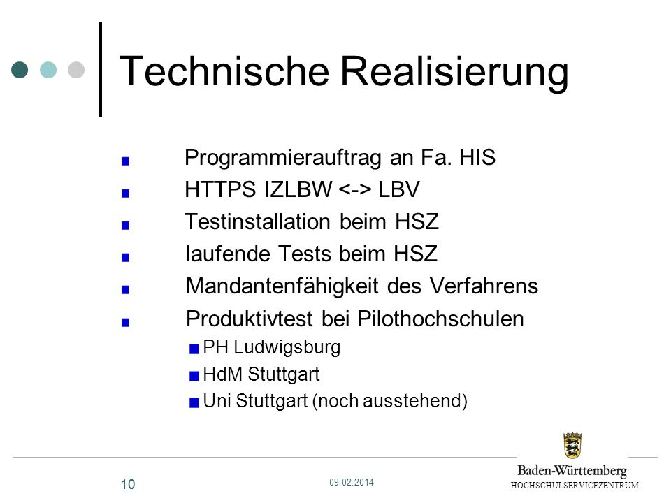 Technische Realisierung