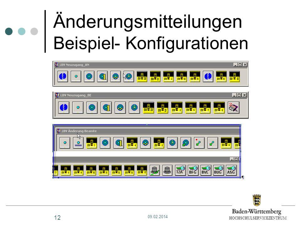 Änderungsmitteilungen Beispiel- Konfigurationen