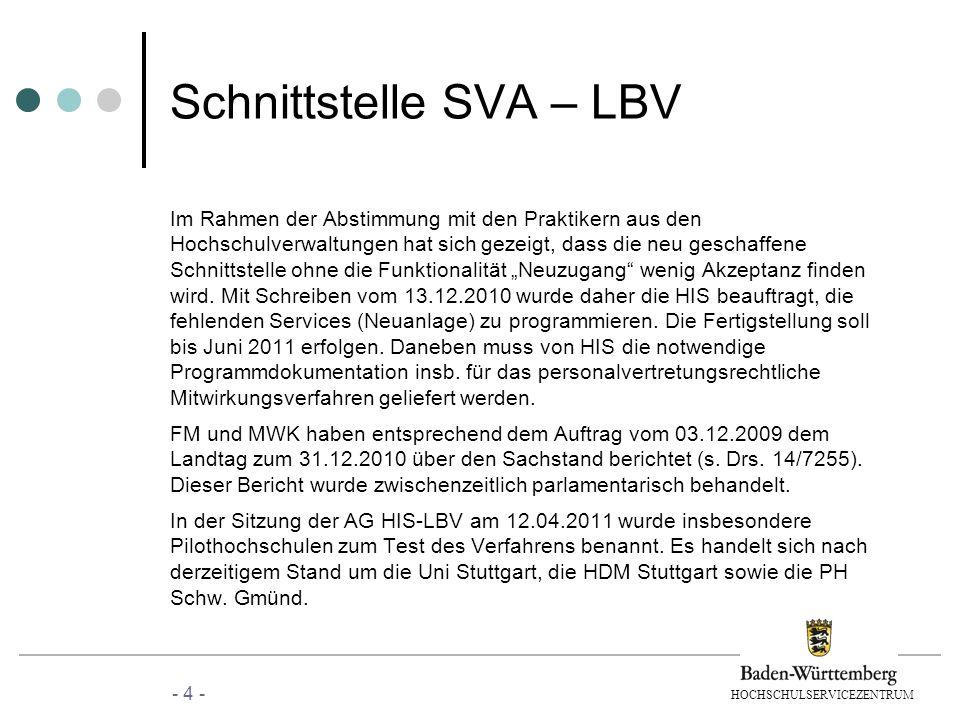 Schnittstelle SVA – LBV