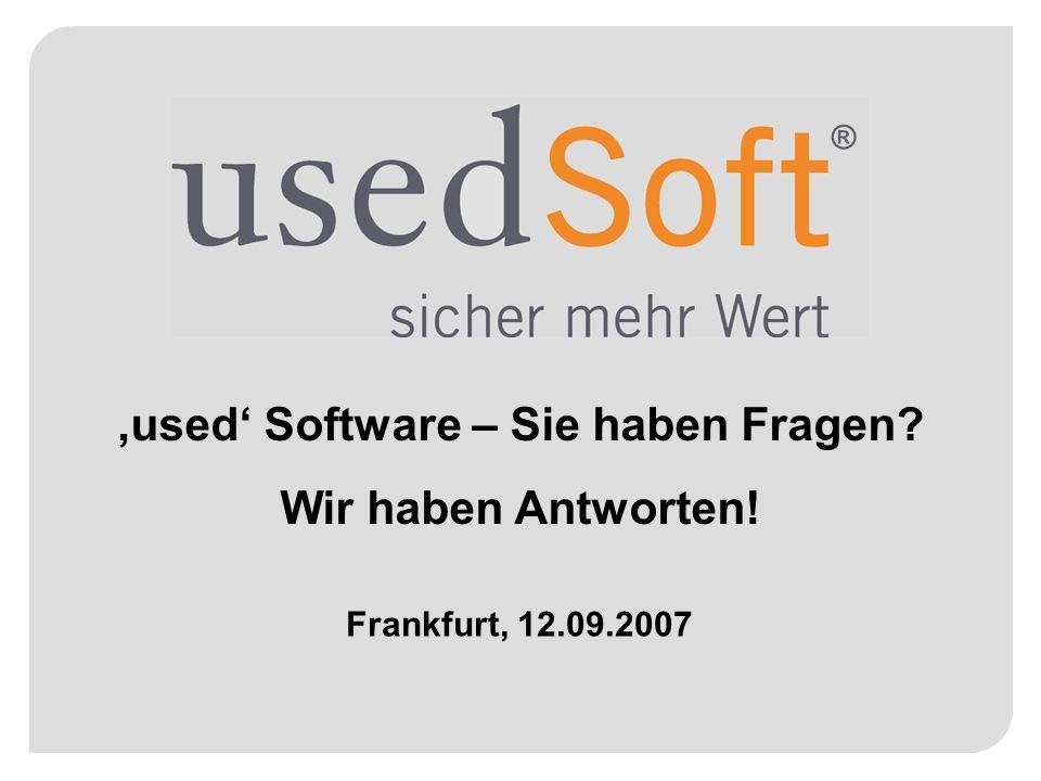 'used' Software – Sie haben Fragen