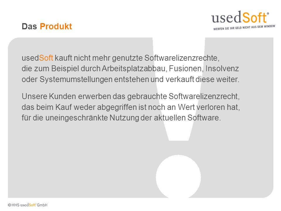 Das Produkt usedSoft kauft nicht mehr genutzte Softwarelizenzrechte,