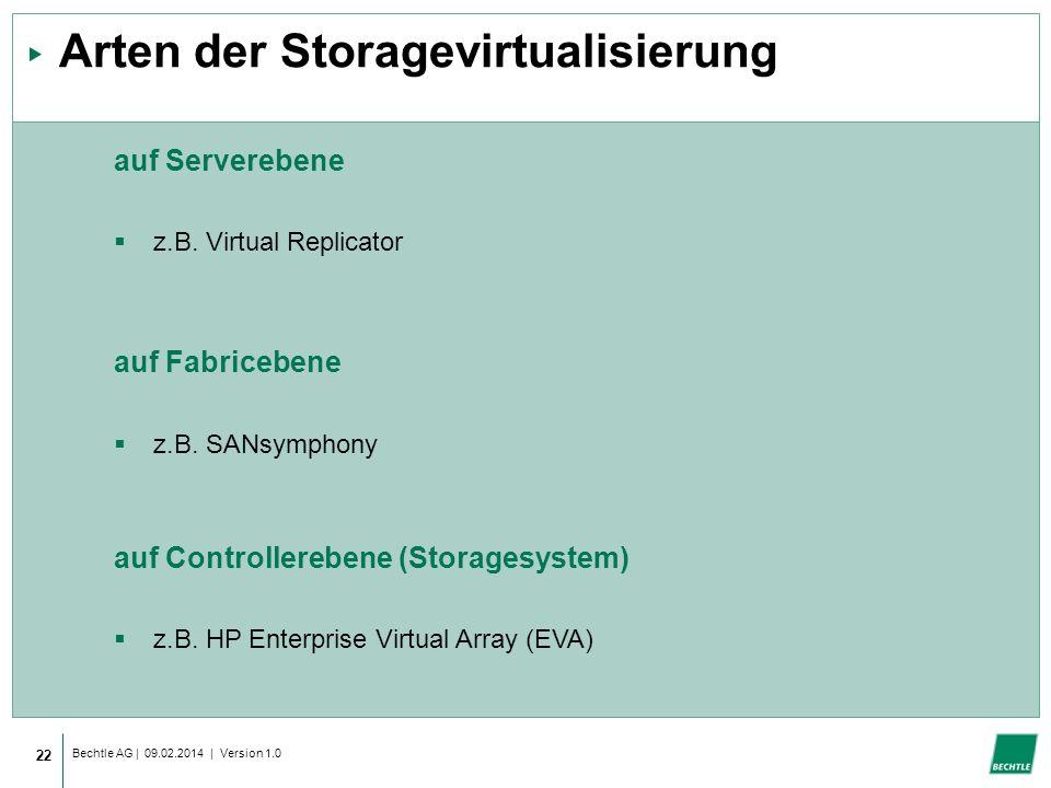 Arten der Storagevirtualisierung
