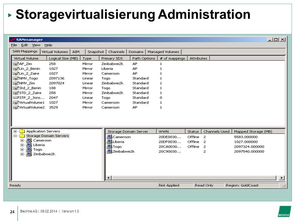 Storagevirtualisierung Administration