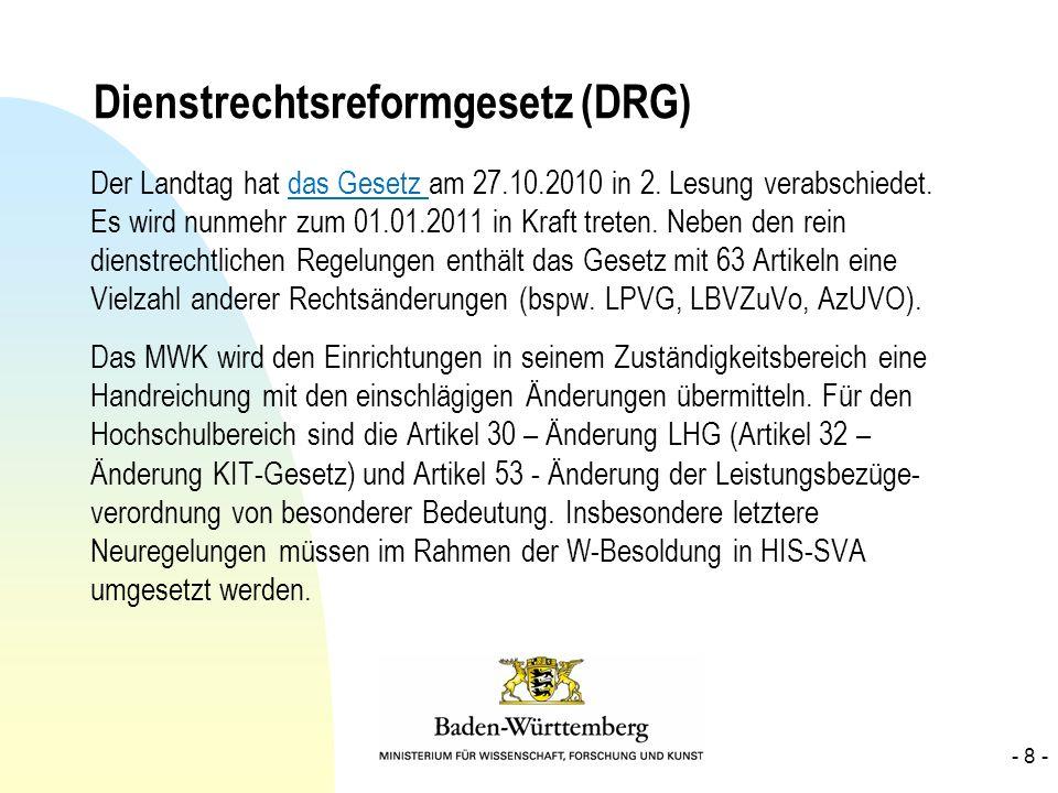 Dienstrechtsreformgesetz (DRG)