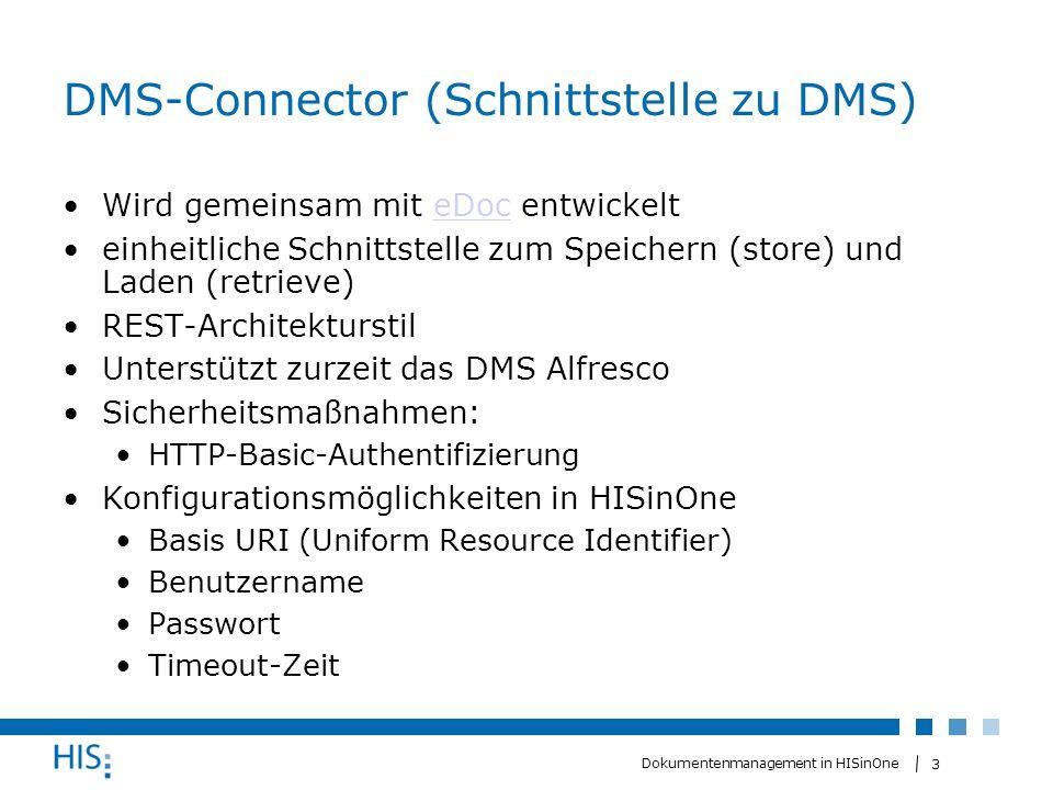 DMS-Connector (Schnittstelle zu DMS)