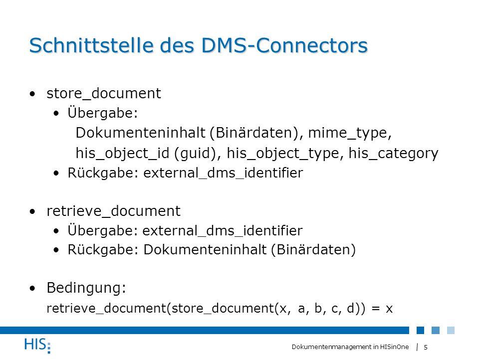 Schnittstelle des DMS-Connectors