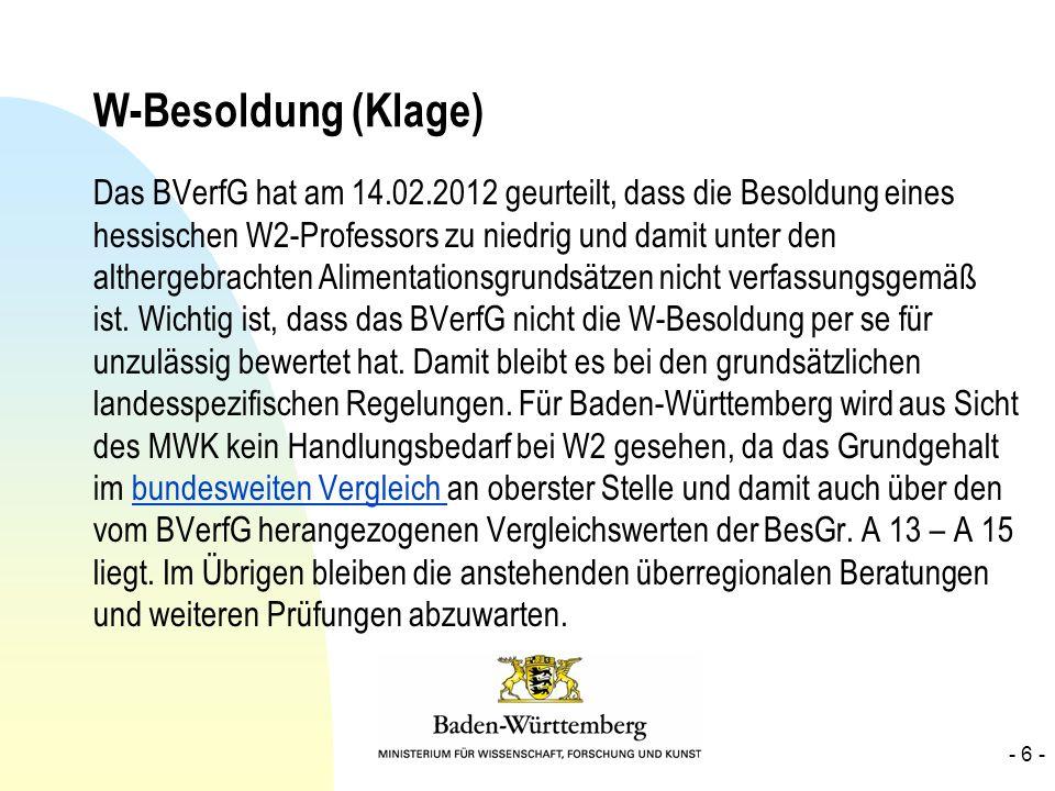 W-Besoldung (Klage)