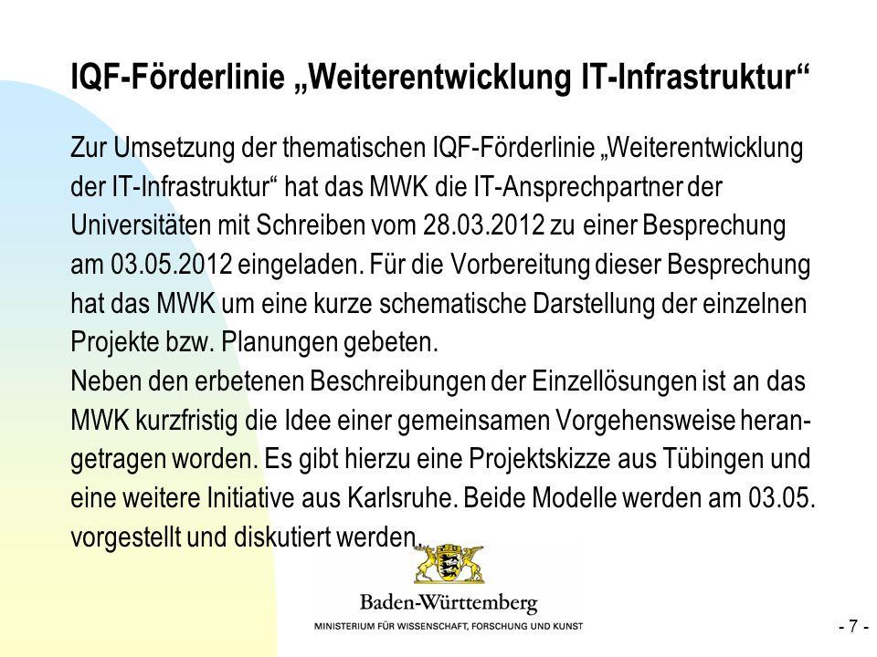 """IQF-Förderlinie """"Weiterentwicklung IT-Infrastruktur"""
